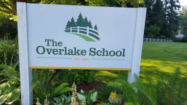 The Overlake School sign