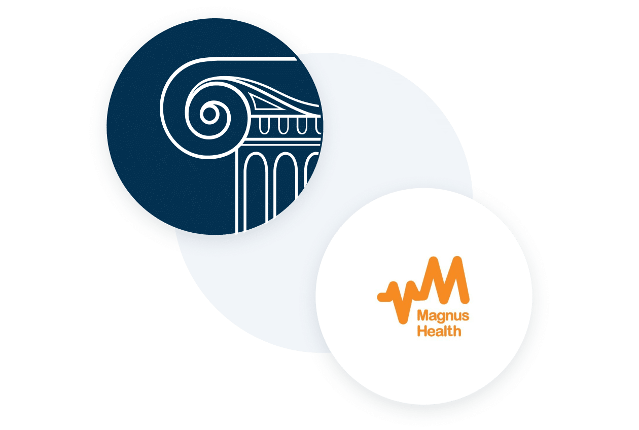 Veracross and Magnus Health logo together