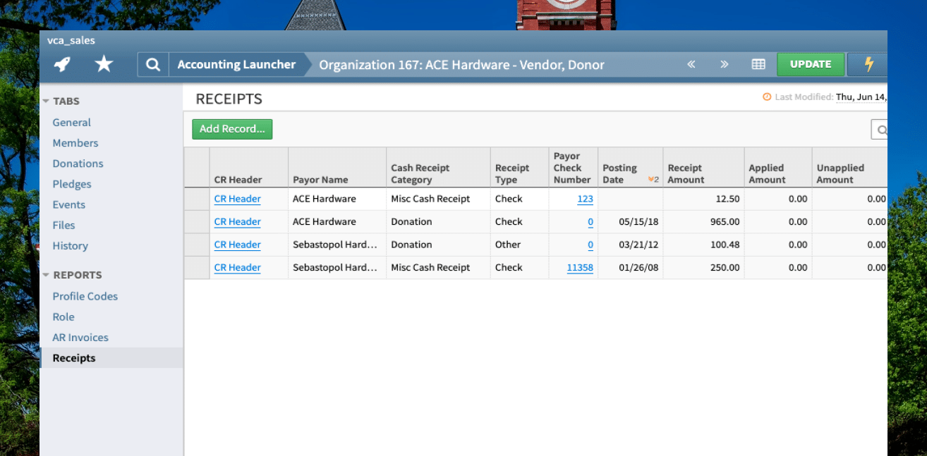 Vendor management in one place UI screenshot